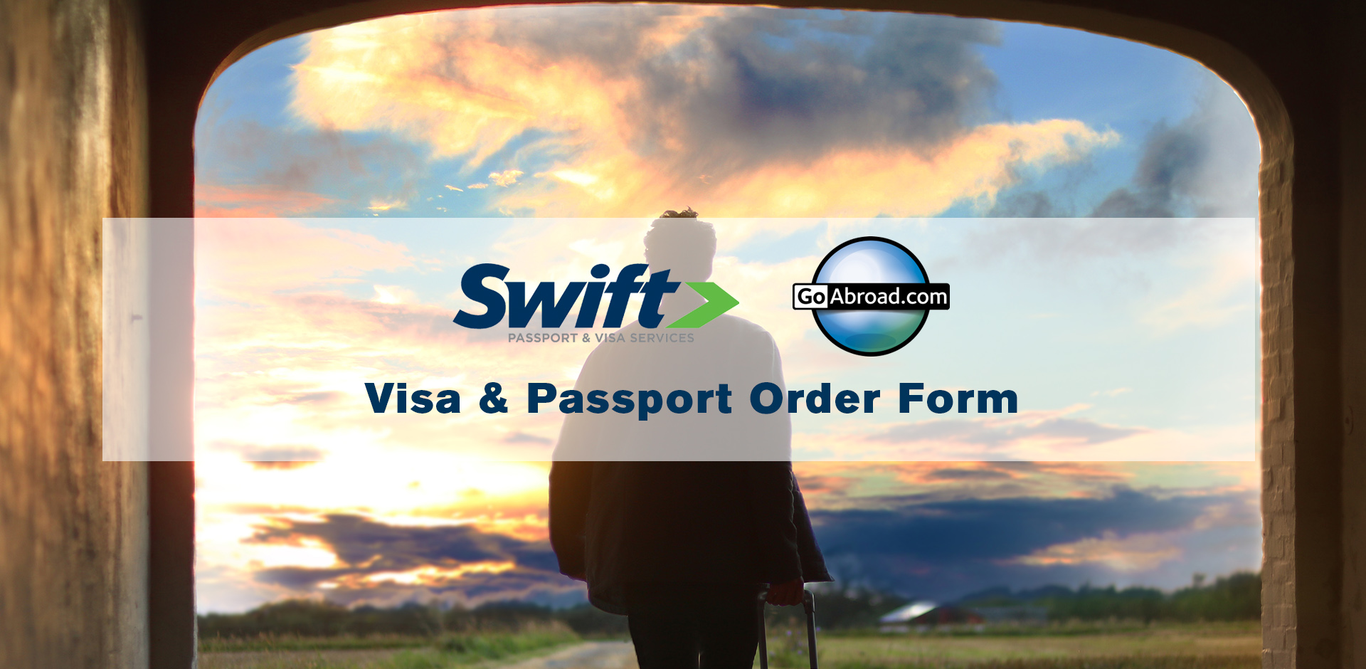 Go Abroad Passport and Visa Order Form Image